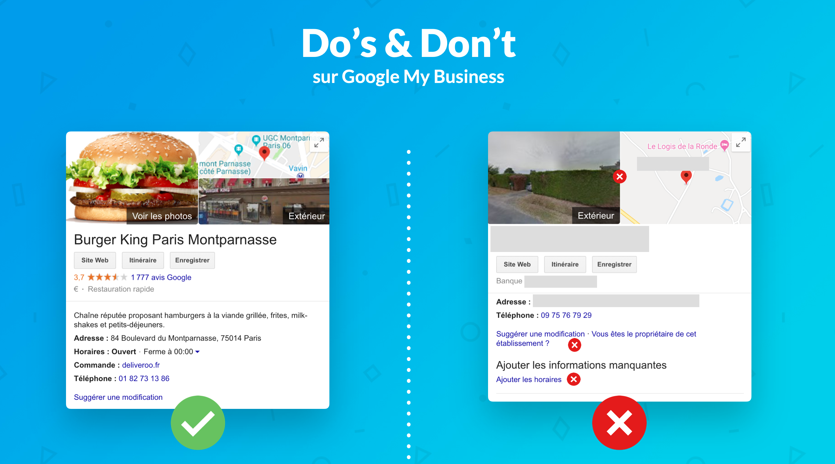 Do's & Don't sur Google My Business